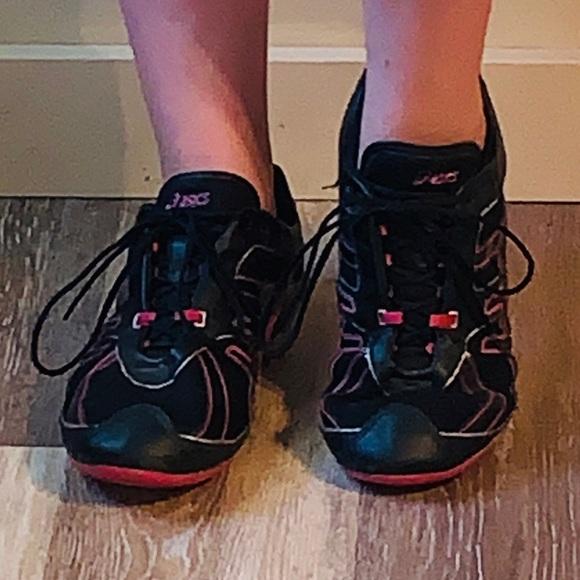 Asics Shoes - Asics Women's Black Pink Gel Sneakers 10